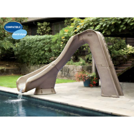 Toboggan piscine TYPHOON