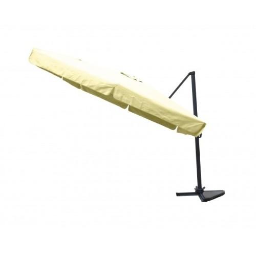 Parasol excentré beige 3 x 3m