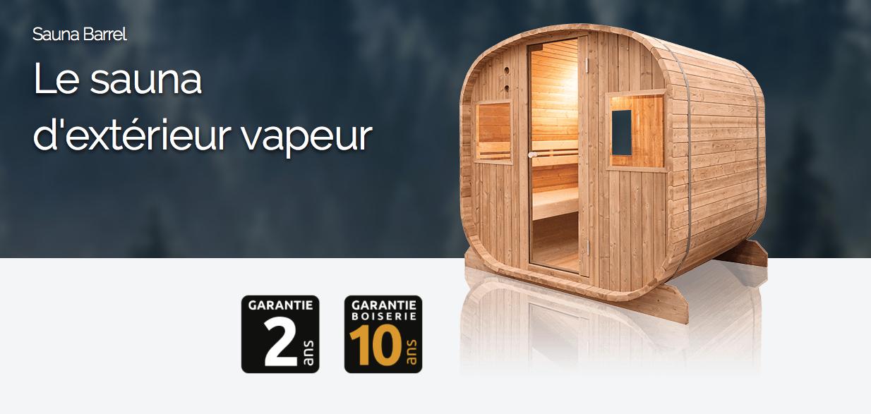 Sauna ext rieur barrel vapeur for Sauna vapeur exterieur
