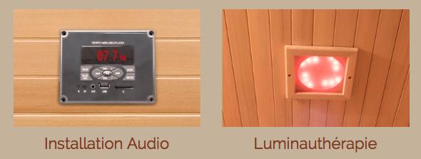 Accessoires inclussauna LUXE luminauthérapie